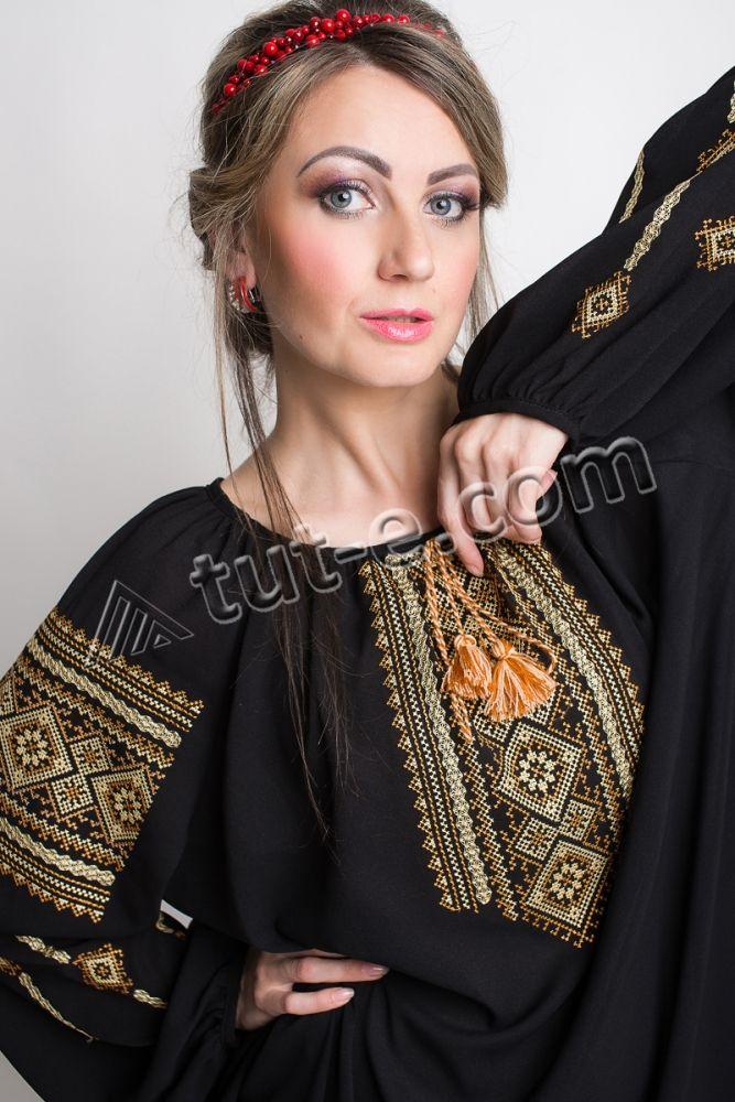 Шифоновая черная женская блуза - Изображение 3