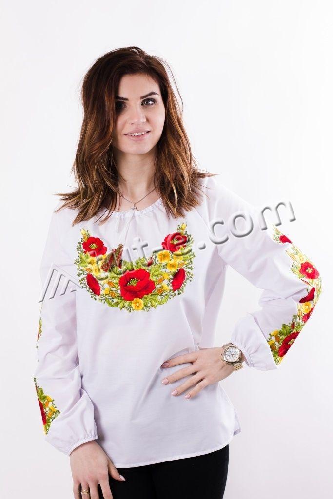 Блуза женская роза с желтым