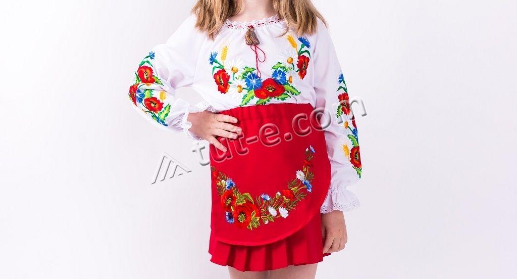 Детская юбка плиссе красная