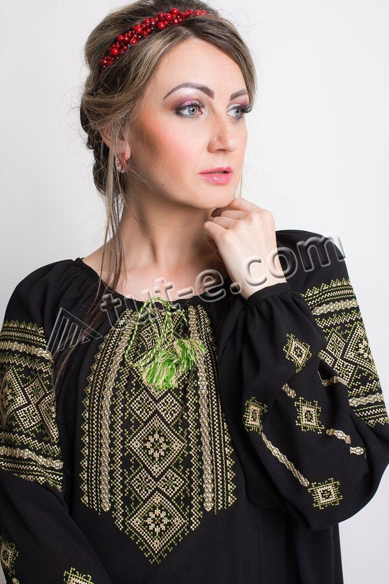 Блуза-вышиванка шифоновая