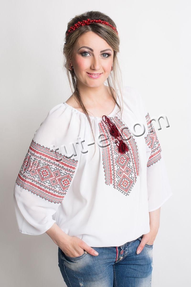 Шифоновая блуза с орнаментом