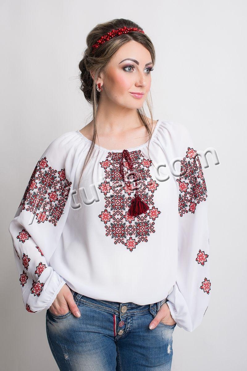 Блуза шифон крестик