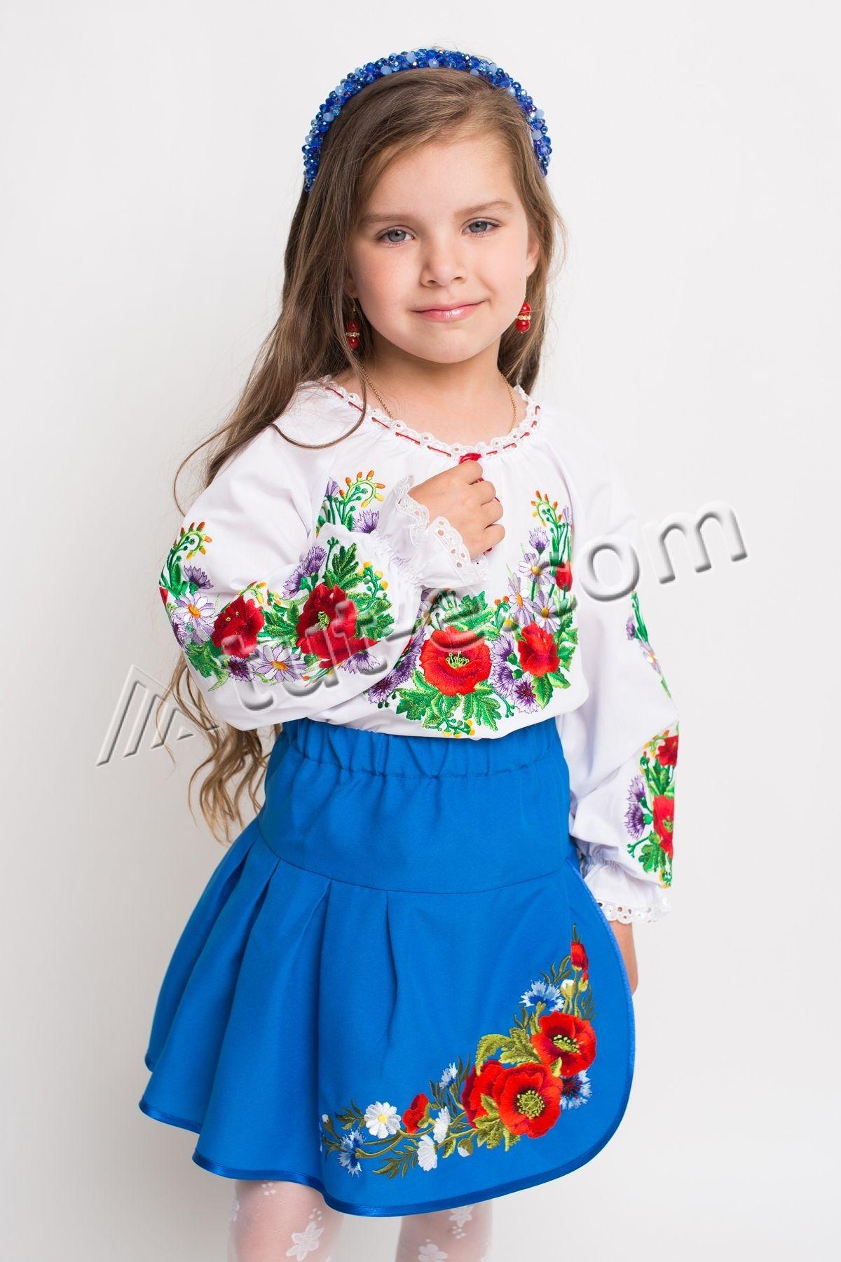 Блуза детская сиреневый цветочек