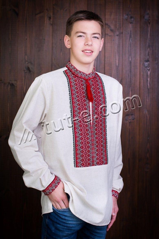 Рубашка льняная подростковая