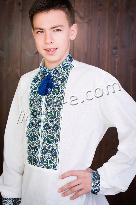 Подростковая рубашка-вышиванка