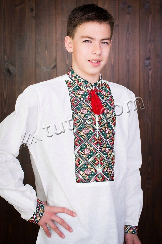 Подростковая льняная рубашка