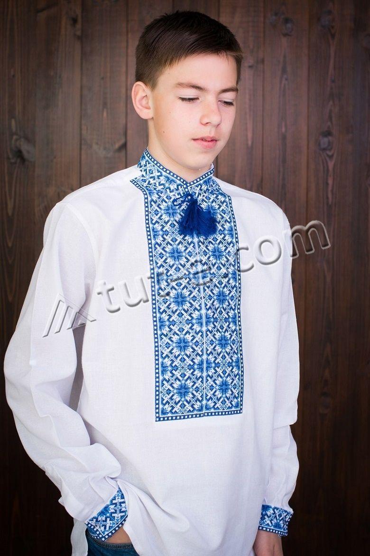 Вышитая подростковая рубашка