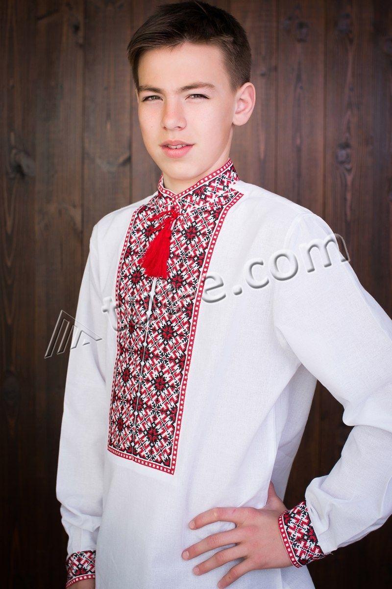 Льняная подростковая рубашка