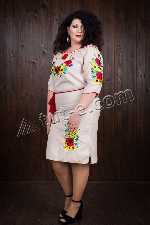 Женское платье с маками
