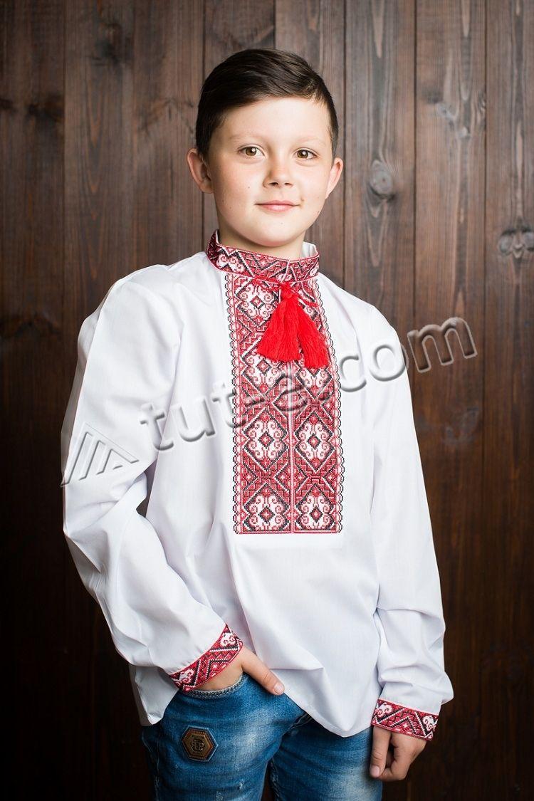 Вышиванка белая на мальчика