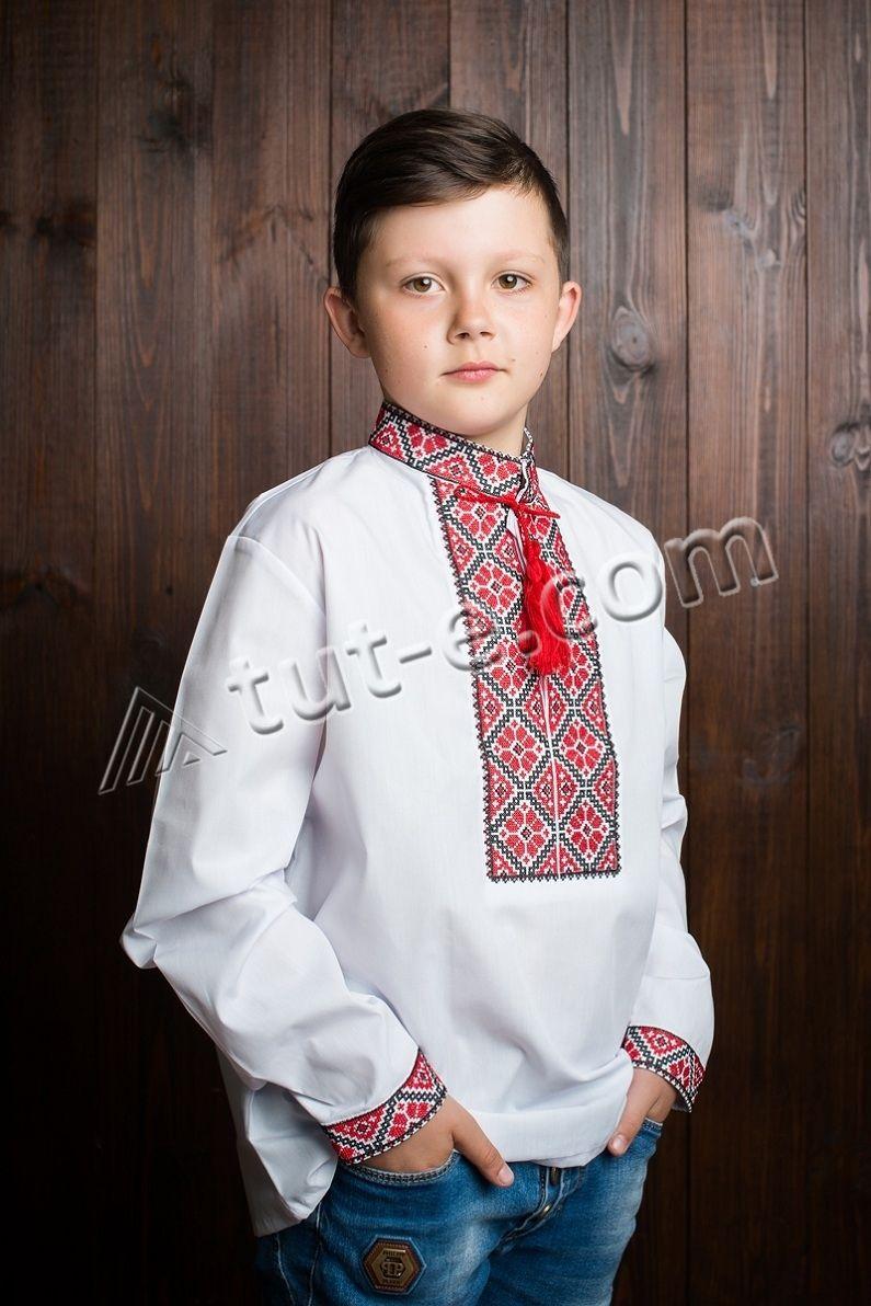 Рубашка для мальчика вышитая