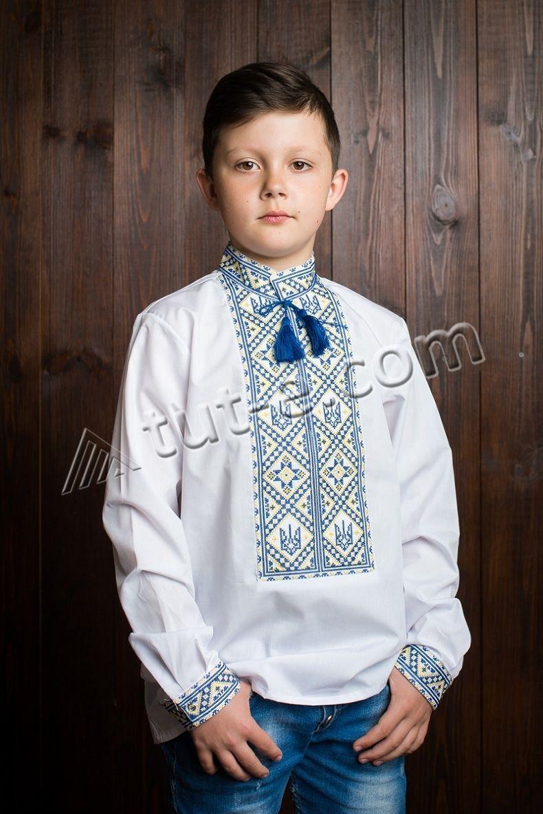 Рубашка для мальчика тризуб светлый