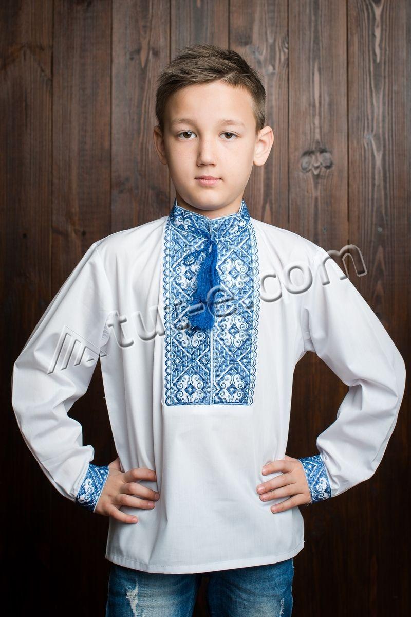 Вышиванка с орнаментом для мальчика