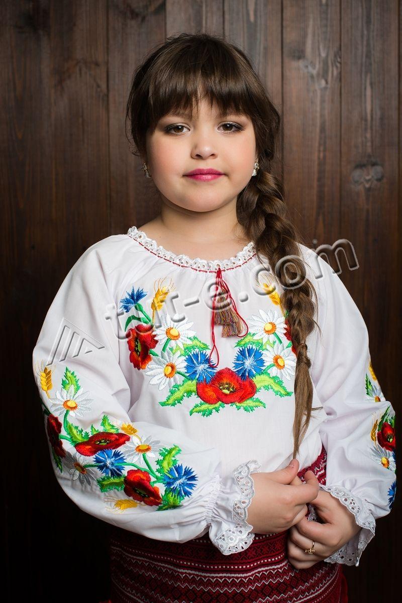 Детская блуза мак колосок