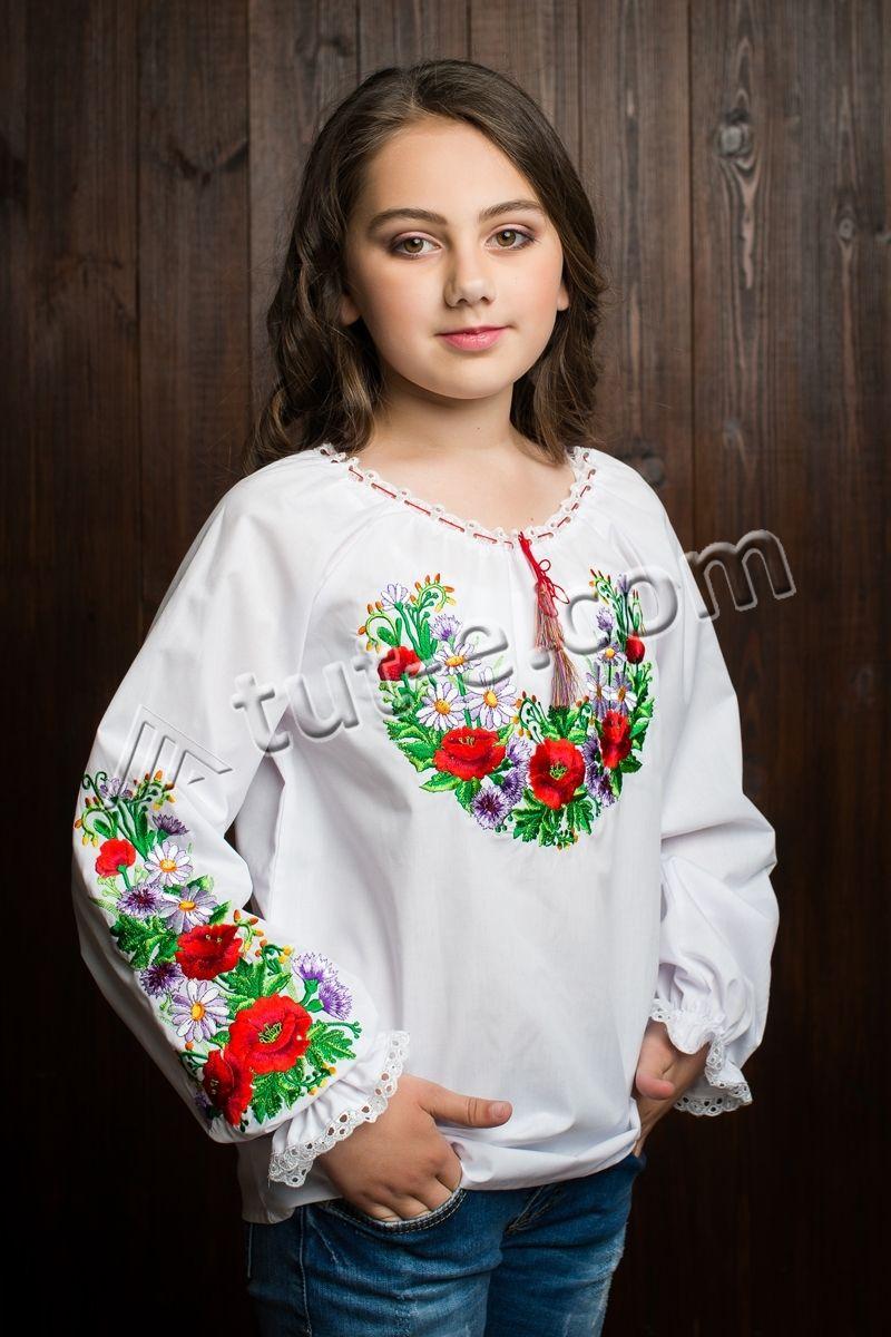 Детская блуза сиреневый цветок