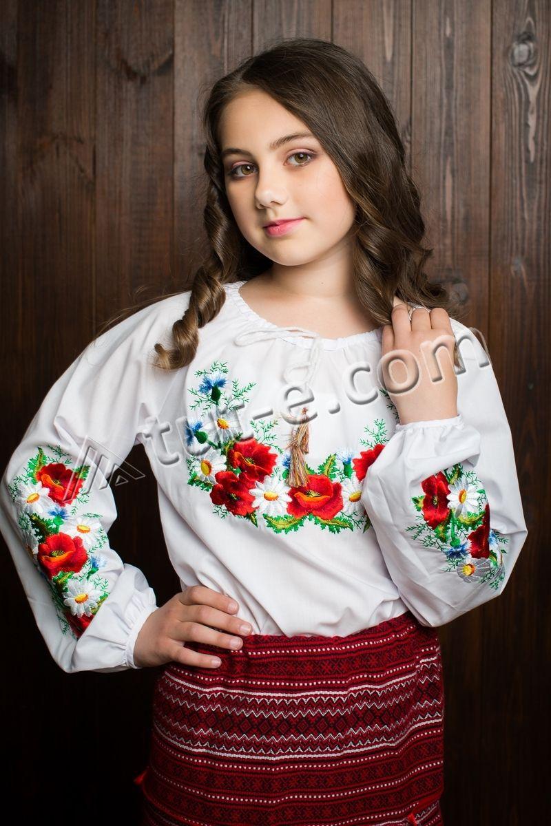 Блуза подростковая полевые цветы