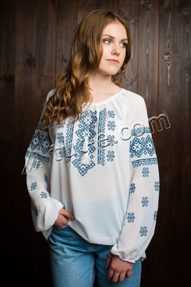 Блуза шифоновая орнамент