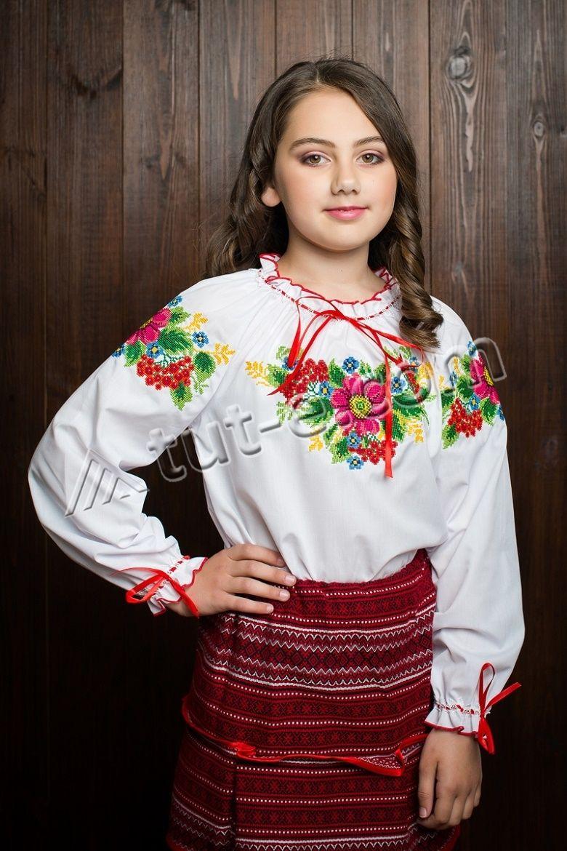Блуза подростковая ветка калины
