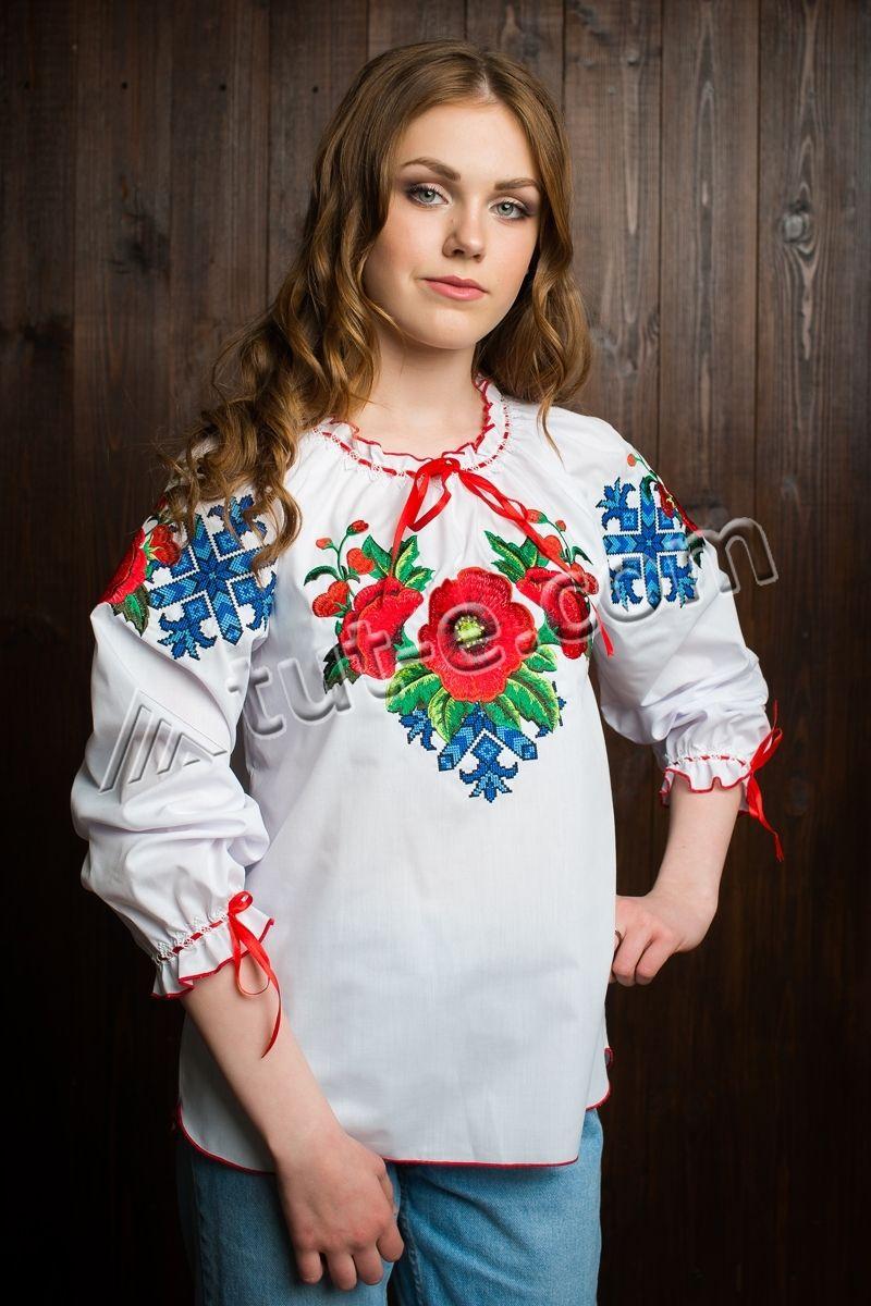 Блуза подростковая мак большой