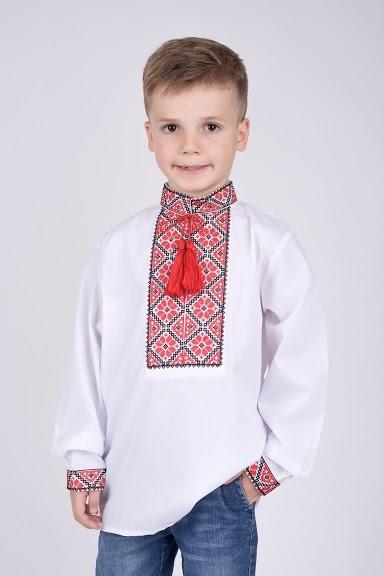 Вышиванка для мальчика черно-красная вышивка