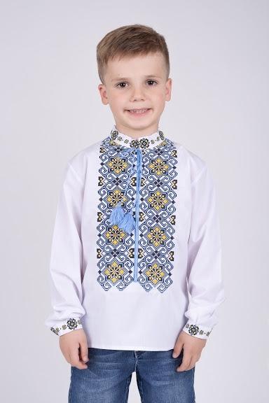 Рубашка-вышиванка для мальчика орнамент