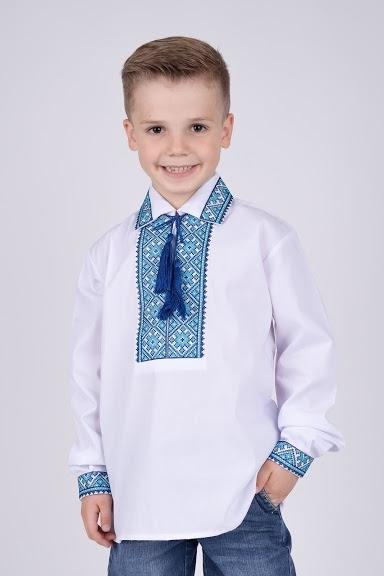 Вышиванка на мальчика с воротником