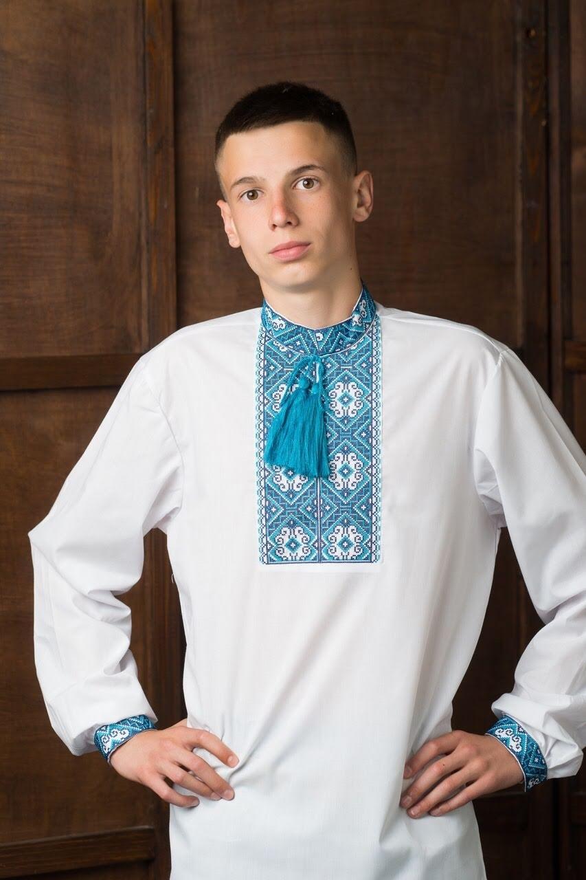 Подростковая вышитая рубашка4