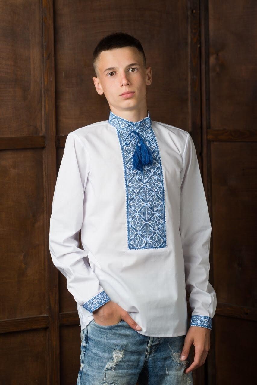 Подростковая вышитая рубашка6