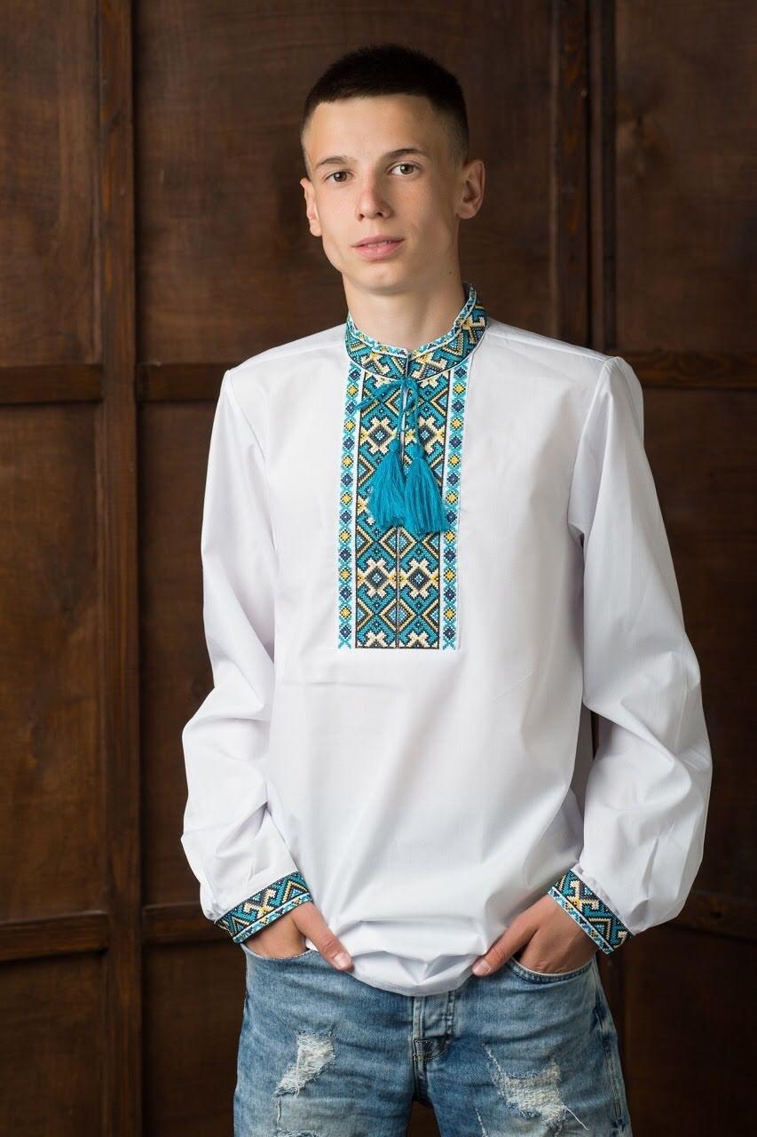 Подростковая вышитая рубашка8