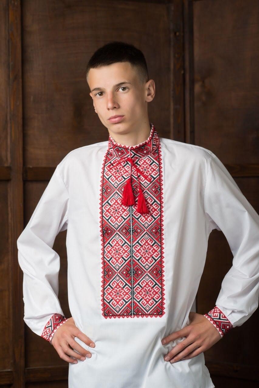 Подростковая рубашка-вышиванка1