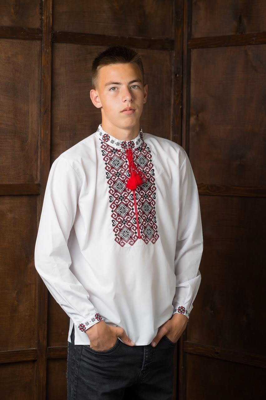 Подростковая рубашка-вышиванка4