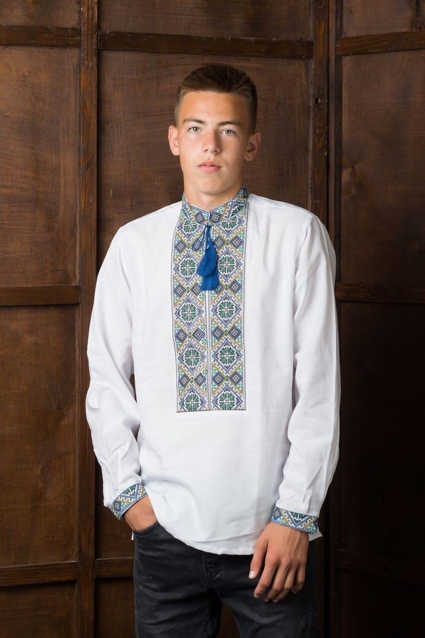Вышитая подростковая рубашка1