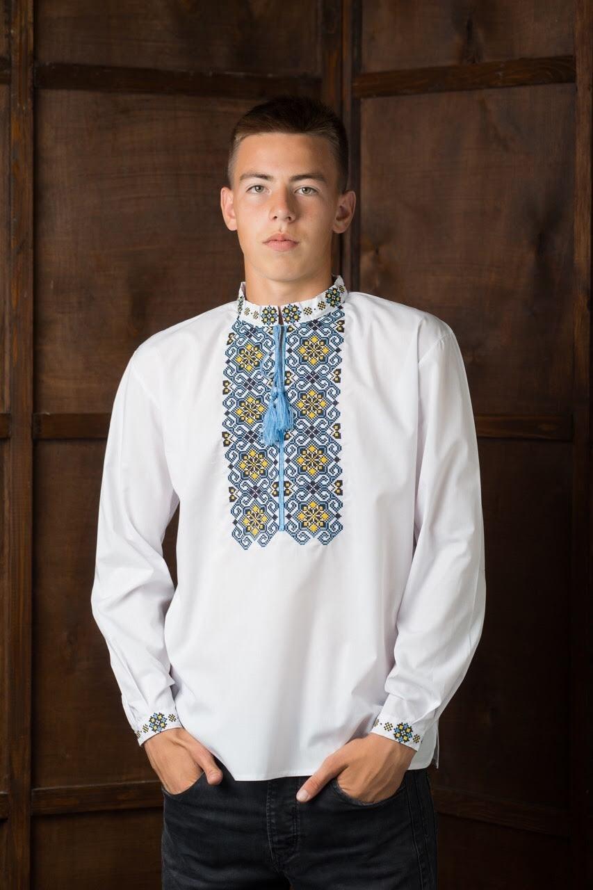 Вышитая подростковая рубашка8